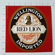 ETIQUETTE BRASSERIE UNION JUMET WELLINGTON RED LION  IMPORTED ITALIE - Beer