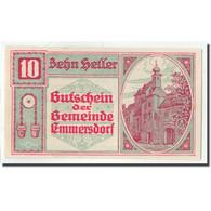 Billet, Autriche, Emmersdorf An Der Donau, 10 Heller, Village, 1920, 1920-12-31 - Autriche