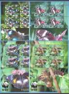 2008 Aitutaki  WWF Blue Moon Butterfly - Sheetlet Set - MiNr. 778 - 781 Flowers, Forest Orchids  MNH** (kk) - Aitutaki