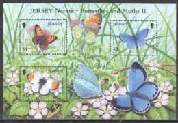 2006 Jersey Jersey Nature - Butterflyies And Moth II - MS MNH** MI B 58 (kk) - Jersey