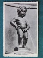 """Belgium 1956 Or 1966 Postcard """"Mannekenpis Bruxelles"""" To France - Lions - Belgique"""