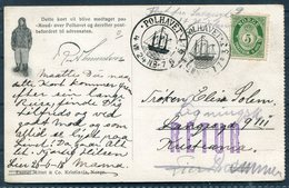 1924 Norway MAUD Polar Bear Ship Postcard. Polhavet - Norway