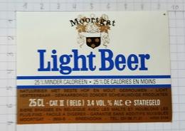ETIQUETTE BROUWERIJ MOORTGAT BREENDONK LIGHT BEER - Beer