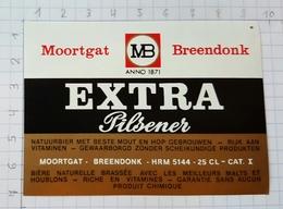 ETIQUETTE BROUWERIJ MOORTGAT BREENDONK EXTRA PILSENER - Beer