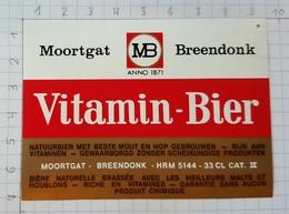 ETIQUETTE BROUWERIJ MOORTGAT BREENDONK VITAMIN BIER - 2 - Beer