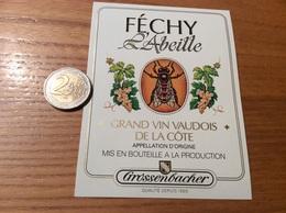 Etiquette Vin Suisse «FÉCHY - L'Abeille - GRAND VIN VAUDOIS - Grossenbacher » - White Wines