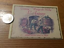 Etiquette Vin Suisse «FÉCHY - Gamay Rouge - L'Ariane - ANDRÉ ROCHAT » - Red Wines