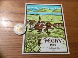 Etiquette Vin Suisse 1983 «FÉCHY - P. Molliex & Fils » - White Wines