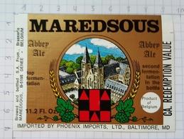 ETIQUETTE BROUWERIJ MOORTGAT BREENDONK MAREDSOUS - 1 - Beer