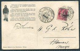 1924 Norway FRAM  Polar Bear Ship Postcard. Polhavet - Norway