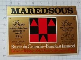 ETIQUETTE BROUWERIJ MOORTGAT BREENDONK MAREDSOUS - 5 - Beer