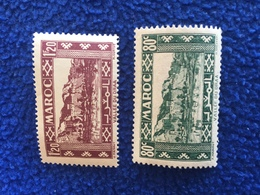 French :Stamps; Offices In Morocco Set Of 2, Valley Of Draa 1939-40 - France