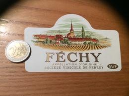 Etiquette Vin Suisse «FÉCHY - SVP SOCIÉTÉ VINICOLE DE PERROY » - White Wines