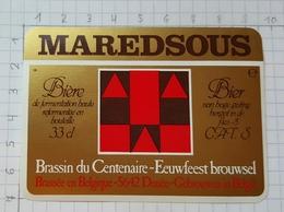 ETIQUETTE BROUWERIJ MOORTGAT BREENDONK MAREDSOUS - 9 - Beer