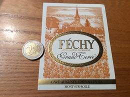 Etiquette Vin Suisse «FÉCHY - Grand Terre - CAVE AUGUSTE CHEVALLEY SA - MONT-SUR-ROLLE » - White Wines