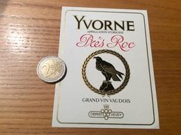 Etiquette Vin Suisse «YVORNE - GRAND VIN VAUDOIS - Près Roc - OBRIST VEVEY » (aigle) - White Wines