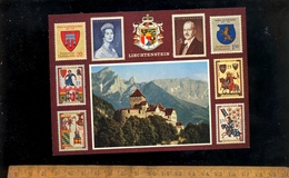 LIECHTENSTEIN  : Scloss Vaduz Fürst Franz Josef II Fürstin Gina Staatswappen Briefmarken - Liechtenstein