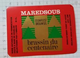 ETIQUETTE BROUWERIJ MOORTGAT BREENDONK MAREDSOUS - 23 - Beer