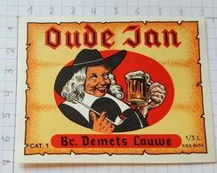 ETIQUETTE BROUWERIJ  DEMETS LAUWE OUDE JAN - Beer