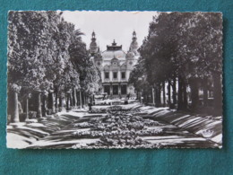 "Monaco 1955 Postcard ""Monte Carlo - Casino And Gardens"" To England - Crown Cancel - Monaco"