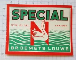 ETIQUETTE BROUWERIJ  DEMETS LAUWE SPECIAL - Beer