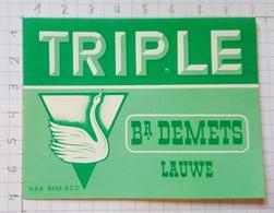 ETIQUETTE BROUWERIJ  DEMETS LAUWE TRIPLE - Beer