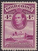 Gold Coast 1938 - 44 KGV1 4d Magenta Castle Accra MM SG 125 ( H1263 ) - Gold Coast (...-1957)