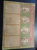 Luxemburger- Post- Kalender 1917 / A4 - Calendars