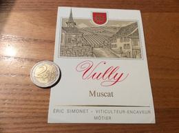 Etiquette Vin Suisse «VULLY - Muscat - ÉRIC SIMONET - MÔTIER » - White Wines