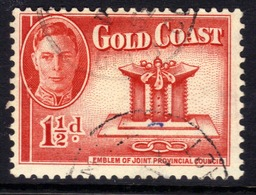 Gold Coast 1948 KGV1 1 1/2d Scarlet SG 137 ( H1293 ) - Gold Coast (...-1957)
