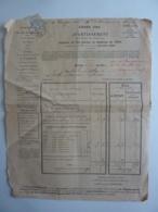 NERAC,  AVIS AU CONTRIBUABLES,  AVERTISSEMENT Pour Acquit Des Contributions Foncières , Timtre Type Blanc Cachet 1904 - Marcofilie (Brieven)