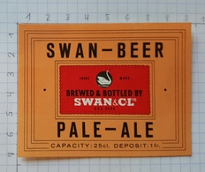 ETIQUETTE BROUWERIJ  DEMETS LAUWE SWAN BEER PALE ALE - 1 - Beer