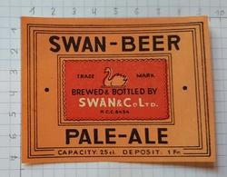 ETIQUETTE BROUWERIJ  DEMETS LAUWE SWAN BEER PALE ALE - 2 - Beer