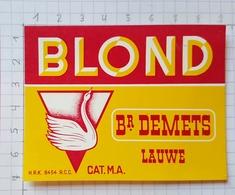 ETIQUETTE BROUWERIJ  DEMETS LAUWE BLOND - 2 - Beer