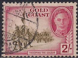 Gold Coast 1948 KGV1 2/-d Green & Magenta SG 144 ( H1288 ) - Gold Coast (...-1957)