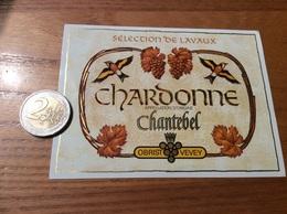 Etiquette Vin Suisse «CHARDONNE - SÉLECTION DE LAVAUX - Chantebel - OBRIST VEVEY » (oiseau) - Red Wines