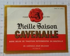 ETIQUETTE BRASSERIE CAVENAILE DOUR VIEILLE SAISON CAVENAILLE - Beer