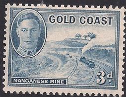 Gold Coast 1948 KGV1 2d  Light Blue MM SG 140 ( K1150 ) - Gold Coast (...-1957)