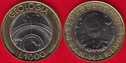 "San Marino 1000 Lire 1998 Km#384 ""Geology"" BiMetallic UNC - San Marino"