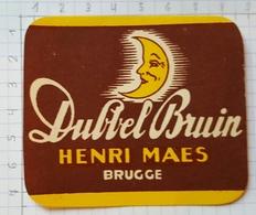 ETIQUETTE BROUWERIJ HENRI MAES BRUGGE DUBBEL BRUIN - Beer