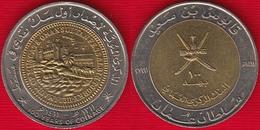 """Oman 100 Baisa 1991 (1411) Km#82 """"Coinage"""" BiMetallic UNC - Oman"""