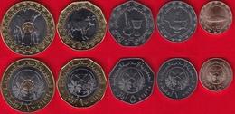 Mauritania Set Of 5 Coins: 1/5 - 20 Ouguiya 2017 UNC - Mauritania