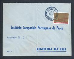 Carta Da Lusitânia,Companhia Portuguesa De Pesca,Morraceira.Vila Praia De Âncora. Figueira Da Foz.Stamp Ponte Sobre Tejo - 1910-... République