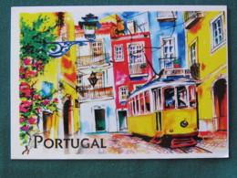 "Portugal 2018 Postcard ""Lisboa Tramway"" To Nicaragua - Reynaldo Dos Santos - Flower Fair - Unclassified"
