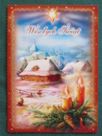 "Poland 2017 Postcard ""Christmas Snow Candles"" To Nicaragua Inside Letter - Pologne"