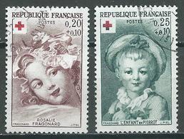 France YT N°1366/1367 Croix-Rouge 1962 Oblitéré ° - France