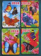 Russia 2016 - 4 Pocket Calendar Butterflies - Russie