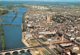 TOURS Vue Generale Aerienne De Gauche A Droite La Loire Et Le Pont Wilson 20(scan Recto-verso) MA1978 - Tours
