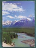 """Canada 2007 Postcard """"Athabasca River Valley - Mountain"""" To England - Art Canada - Church And Horse - Canada"""