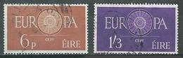 Irlande YT N°146/147 Europa 1960 Oblitéré ° - 1949-... République D'Irlande